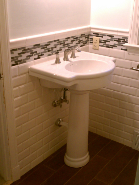 Bathroom Tile and Sink Upgrade