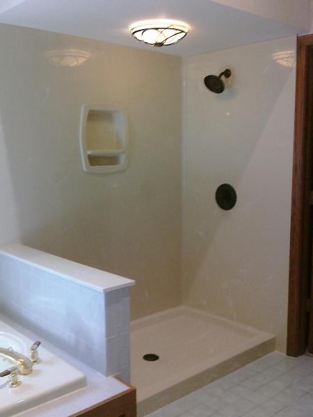 New Shower Installed