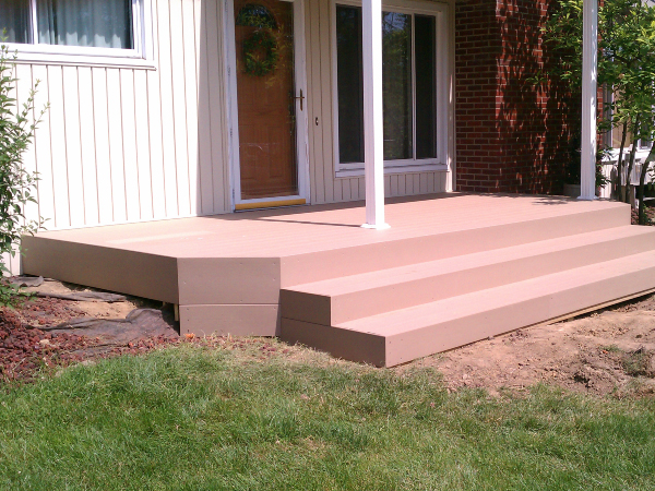 Porch Deck with Stairs