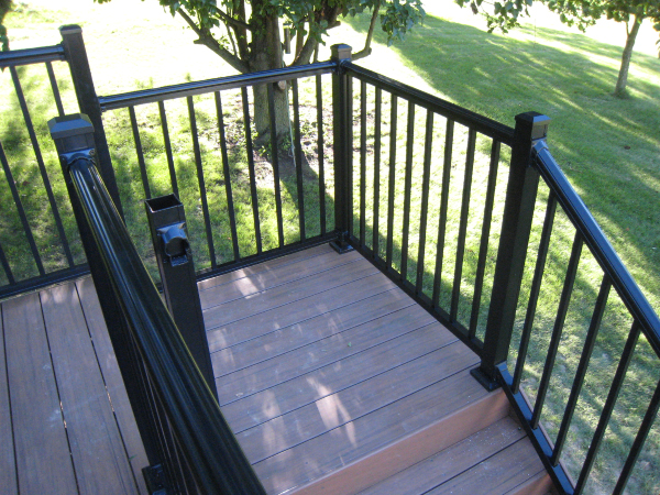 Decks with Stair rail