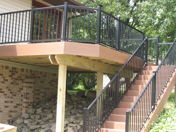 Deck with Iron Railing
