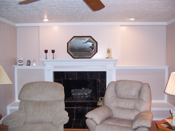 new remodeled fireplace